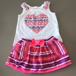 Children's Place Heart Tank and Skort Outfit